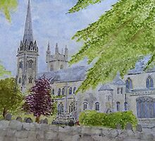 Llandaff Cathedral a Wedding Day  by dennysart