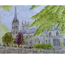 Llandaff Cathedral a Wedding Day  Photographic Print