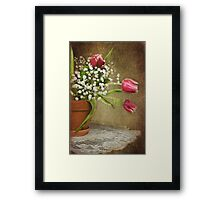 Textured Tulips Framed Print