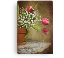 Textured Tulips Canvas Print