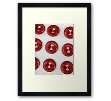 old buttons Framed Print