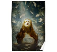 Girl With Feathers Poster
