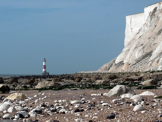 Beachy Head Lighthouse from Falling Sands by mikebov