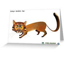 Asian Golden Cat Greeting Card