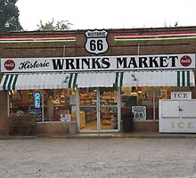 Route 66 - Wrink's Market by Frank Romeo