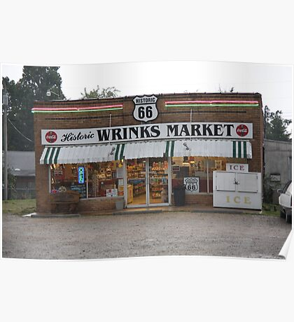 Route 66 - Wrink's Market Poster