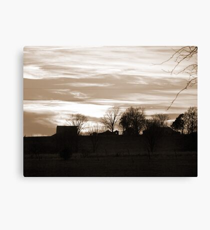 Old Fashioned Landscape Photogrpahy Canvas Print