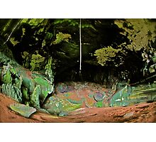 THE GREAT GREEN CAVE Photographic Print