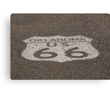 Route 66 - Oklahoma Shield Canvas Print