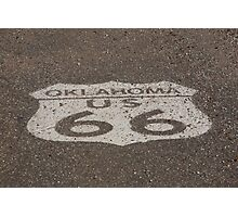 Route 66 - Oklahoma Shield Photographic Print