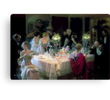 Jules Alexandre Grün The End of Dinner Canvas Print