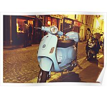 scooter in Paris  Poster