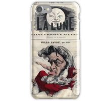 André Gill Jules Favre iPhone Case/Skin
