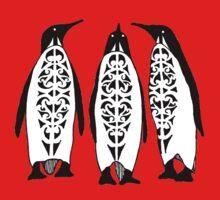 Tribal Penguins Baby Tee