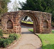 Roman Archway in Grosvenor Park, Chester, Cheshire,UK by AnnDixon