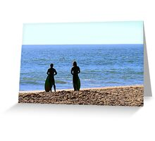 Surfer dudes in SoCal Greeting Card
