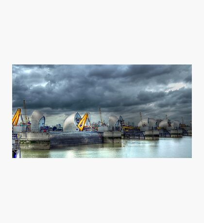 Thames Barrier HDR Photographic Print