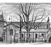 St John the Baptist's Church, Chester • Art Print Drawing  by Spencer  Derry