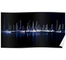 Sleeping sailboats  Poster