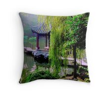 The Garden of lion Grove Throw Pillow