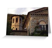 Tuscan Villa Stonework Greeting Card
