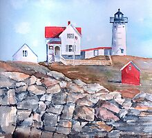 Nubble Lighthouse - Maine by arline wagner