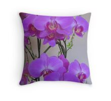 Orchid Plant  Throw Pillow
