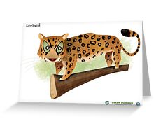 Leopard Caricature Greeting Card