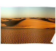 Sand dunes at Namiban coast Poster