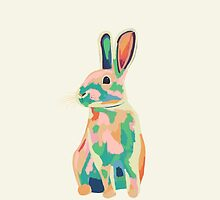 Colourful rabbit, bunny by SaryandSaff