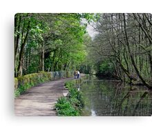 Cromford Canal, Tree Lined Walk Canvas Print