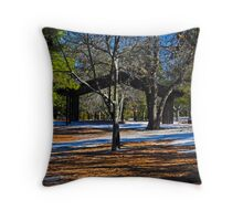 Contrast in the Pines Throw Pillow
