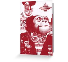 Monkey Masters from another planet Greeting Card
