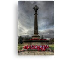 In honour of the brave Canvas Print