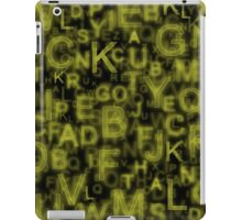 Alphabet Yellow iPad Case/Skin