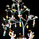 Easter Tree Greeting Card by RebeccaBlackman