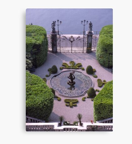Formal Entrance, garden, Villa Carlotta, Lake Como , Italy. Canvas Print
