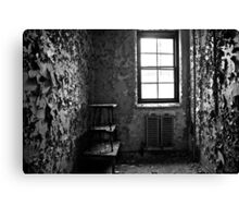 paint is peeling off the walls again... Canvas Print