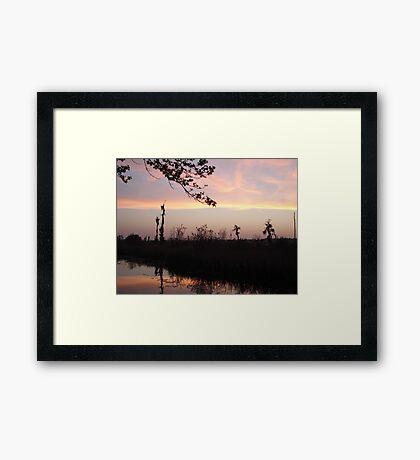 LEMON SLICE SUNSET Framed Print