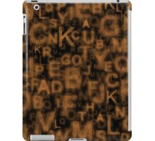 Alphabet Orange iPad Case/Skin