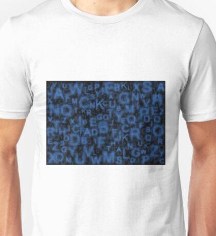 Alphabet Blue Unisex T-Shirt
