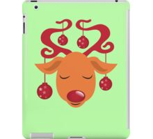 Cute red nosed reindeer with red nose iPad Case/Skin