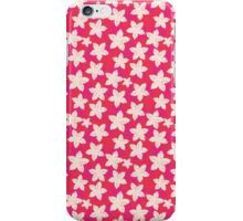 Cute pink white watercolor vintage floral pattern  iPhone Case/Skin