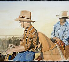"""Droving down the Cooper where the Western Drovers go"" by Allan Graham"