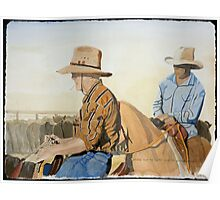 """""""Droving down the Cooper where the Western Drovers go"""" Poster"""