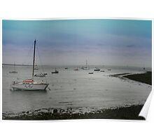 Roa Island Boats Poster