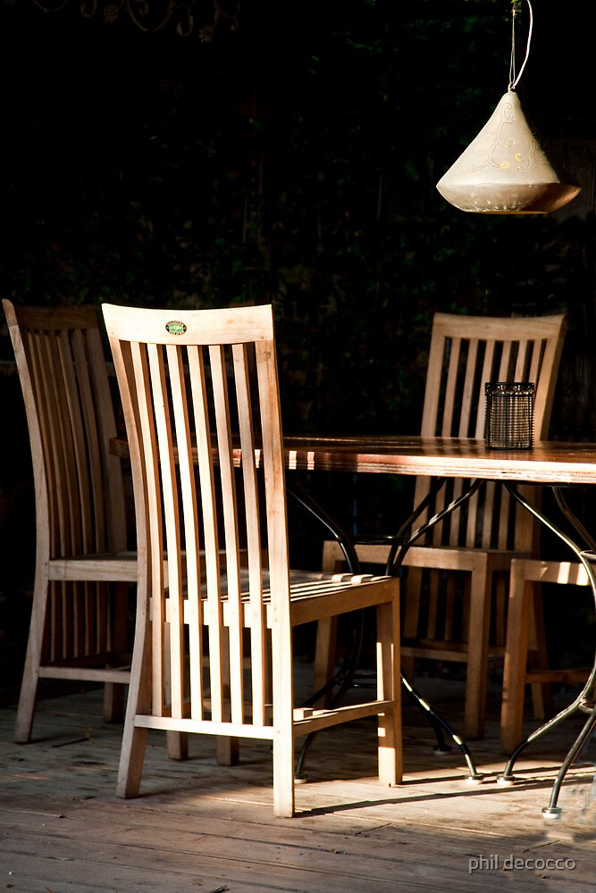 Long Back Chairs by phil decocco