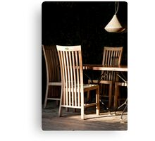Long Back Chairs Canvas Print
