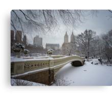 Bow Bridge Central Park in Winter Canvas Print