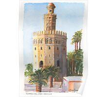 Torre Del Oro, Sevilla, Spain Poster